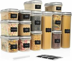 LARGE SET 28 pc Airtight Food Storage Containers with Lids