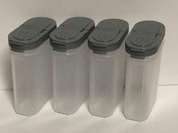 Tupperware Large Spice Container Set 4 Grey New