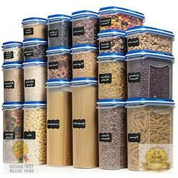 LARGEST Set of 40 Pc Food Storage Containers  Shazo Airtight