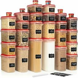 LARGEST Set of 60 Pc Airtight Food Storage Containers  Airt.