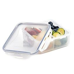 Lock Lock Airtight Square Food Storage Container with Remova