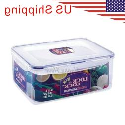 Plastic Clip Lid Classic Rectangular Food Storage Container