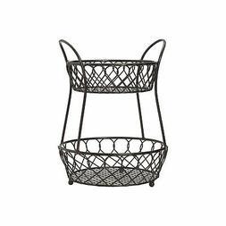 Gourmet Basics by Mikasa 5158748 Loop and Lattic wire basket
