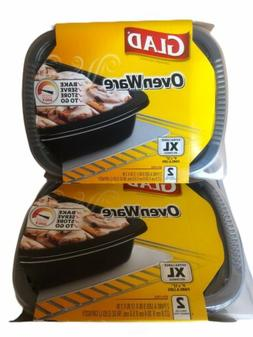 Lot Of 2 Glad OvenWare Food Storage Containers XL Rectangula