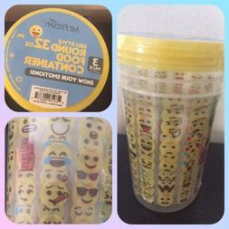 Lot Of 3. Emoji Food Storage Container BPA Free Microwave Fr
