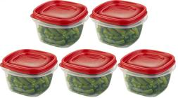 LOT OF 5  RUBBERMAID 2 CUP EASY FIND LID SQUARE FOOD STORAGE