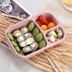 Lunch Box Food Storage Glass Container with Lids Kid Bento B