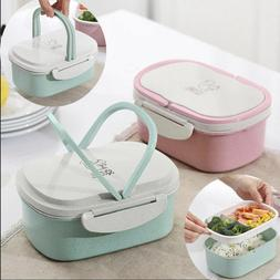 Lunch Box Portable Picnic Microwave Bento Food Snack Fruit S