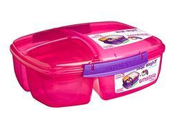 Sistema Lunch Collection Triple Split Lunch Box with Yogurt