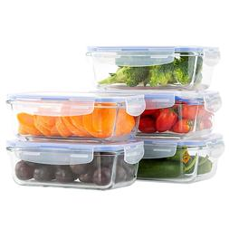 Lunch Container 10 Piece,27 Oz Glass Food Storage Containers