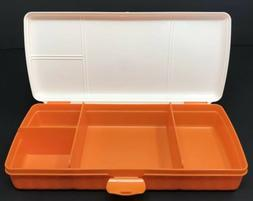 Tupperware Lunch N Things Divided Container Organizer Orange