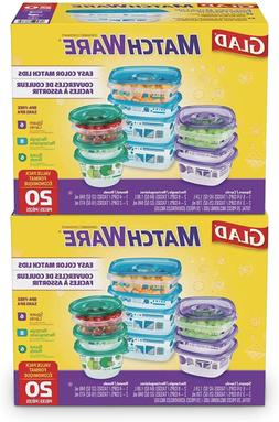 Glad Matchware Value Pack Food Storage Containers, Pack-20 C