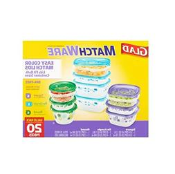 Glad Matchware Variety Pack Food Storage Containers 20 Piece