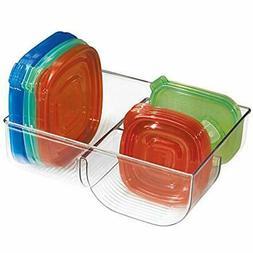mDesign Food Storage Lid Organizer for Kitchen Cabinet, Pant