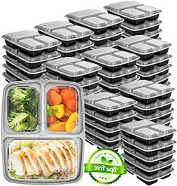 Meal Prep Containers 3 Compartment  - Food Prep Containers B