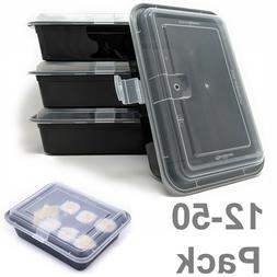 MEAL PREP CONTAINERS 1 Compartment Microwavable Reusable Foo