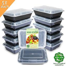 Meal Prep Containers  1 Compartment with Lids Food Storage B