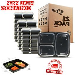 Meal Prep Containers 21 Pack Food Storage Lunch Boxes Stacka