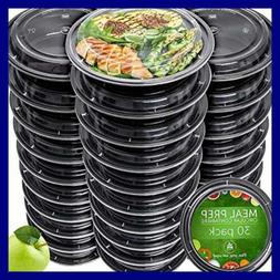 Meal Prep Containers 30 Pack Reusable Plastic W Lids Disposa
