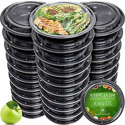 Meal Prep Containers  - Reusable Plastic Containers with Lid