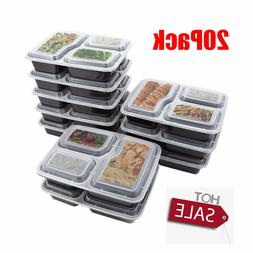 meal prep containers microwave safe 3 compartment