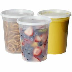 Plastic Deli Food Storage Containers With Airtight Lids