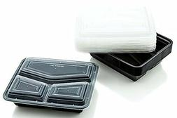 Meal Prep Reusable Food Storage Containers with Lids 3 Compa