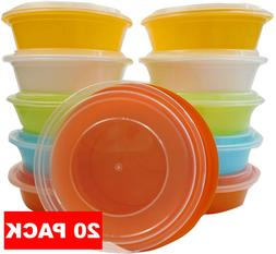 Meal Prep Storage Containers Bowls with Lids Microwaveable D