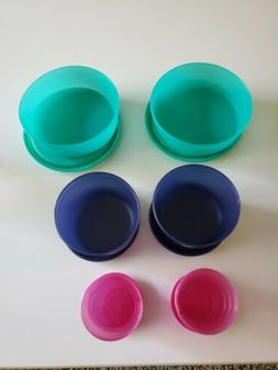 Tupperware Mega Mini 6 Piece Set - Midgets Snack Cups Little