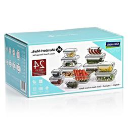 Member's Mark 24-Piece Glass Food Storage Containers Set by