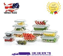Member's Mark 24-Piece Glass Food Storage Set by Glasslock B