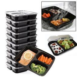 Microwave Dishwasher Safe Stackable Meal Prep Plastic Food C