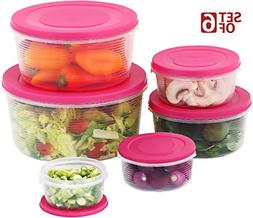Mixing Bowl Set with Lids; Kitchen Food Storage Containers,