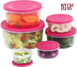 Mixing Bowl Set with Lids Plastic Airtight Nesting Stackable