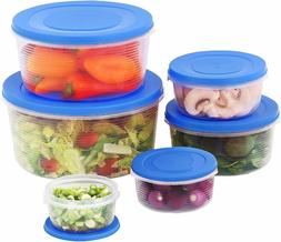 Mixing Bowl Set With Lids Kitchen Food Storage Containers, P