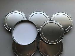 10 New Anchor Hocking Brushed Aluminum Replacement Lids, Coo