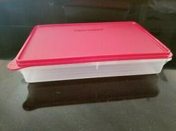 New TUPPERWARE Cold Cut Keeper Snack Stor Large 9x13 Passion