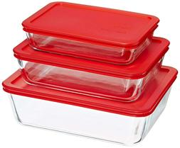 New Food Storage Container 6pc Rectangular Set Kitchen Organ