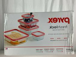 NEW Pyrex freshlock glass food storage containers with airti