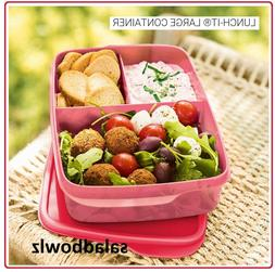 TUPPERWARE New LARGE 1L LUNCH-IT DIVIDED CONTAINER Rectangul