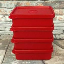 Tupperware Small 6oz Mini Square A Way Keepers Set of 4 Lunc