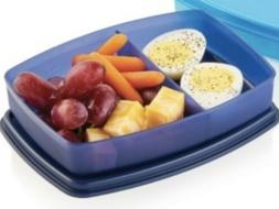 NEW TUPPERWARE PACKETTE SLIM SIDE BY SIDE SNACK LUNCH DIVIDE
