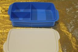 New Tupperware Rectangular w Divisions Lunch Box Container L