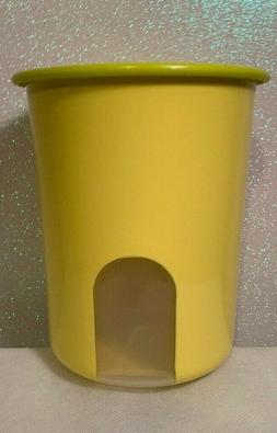 TUPPERWARE One Touch Air Tight Lemon Canister Container 1.3L