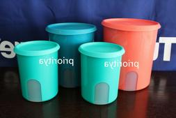 Tupperware One Touch Reminder Canister Container Storage Set