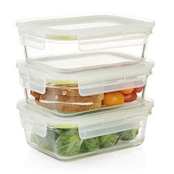 Komax Oven Safe Rectangular Glass Food Storage Containers â