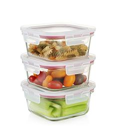 Komax Oven Safe Square Glass Food Storage Containers - Micro