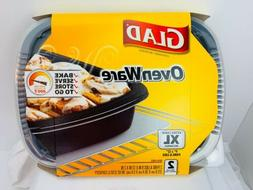 """Glad OvenWare XL Food Baking Serving Storage Containers 9""""x1"""