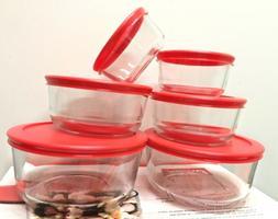 pack of 4 round glass food storage