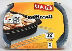 Glad Pans & Lids, Ovenware, 2 ct